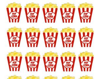 Popcorn Movie Night - Erin Condren LIfe Planner