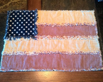 Patriotic Placemats, Americana Placemats, Rustic Placemats, American Flag Placemats, Ragged Placemats,  Americana Decor, Country Decor