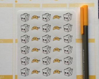 Kawaii Chinese Takeout Planner Stickers