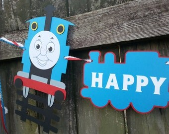 Thomas the Train Happy Birthday Banner Garland