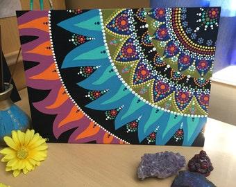 Corner Mandala Painting 12 x 9