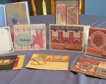 10 Handmade and Boxed Greeting Cards (#55)
