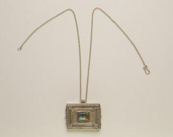 Labradorite amulet necklace
