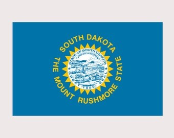 South Dakota Pride State Flag - REFLECTIVE - Full Color Decal for Macbook, Laptop or other device