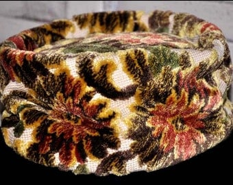 Tapestry Slouch Hat, Floral Slouch Hat, Fabric Slouch Hat, Ladies Slouch Hat, Ladies Tapestry Hat, Vintage Tapestry Hat