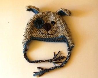 All Sizes - Crocheted Puppy Dog Hat Toque