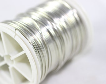 Silver Grey Wire 28 Gauge (0.3 mm) 155 Feet 48 meters, Wire Wrapping, Craft Wire, 155 Feet Artisan Wires