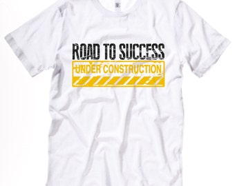 Road work tee etsy for Custom t shirts manchester ct