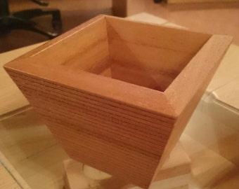 Wood flowerpot Bankirai