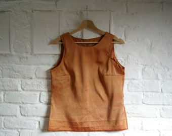 Hand made recycled silk top