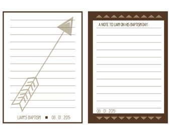 5x7 LDS Baptism Notes - Modern Arrows