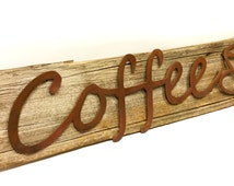 """COFFEE Wall Art Decor  26"""" x 6"""" ***FREE SHIPPING to anywhere in us -Limited Time Only"""