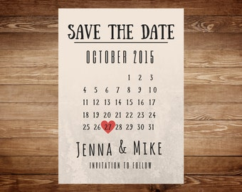 Save The Date - Wedding Card Reminder - Wedding Save the Date