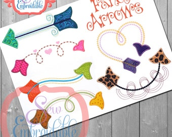 Fancy Arrow Set Embroidery Designs For Machine Embroidery INSTANT DOWNLOAD