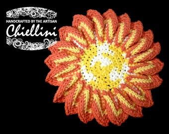 Sunshine Hot-pad or Trivet - Crocheted