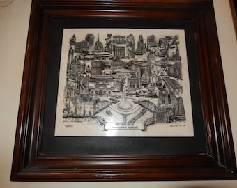 PITTSBURGH MARBLE ETCHING Signed and Numbered