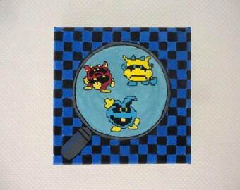Dr Mario 8-bit game acrylic painting