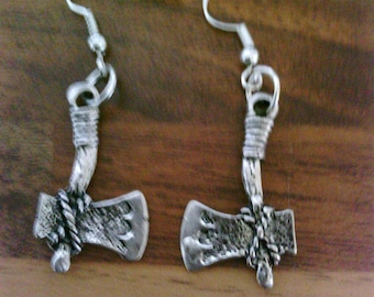 Gothic Style Axe Earrings