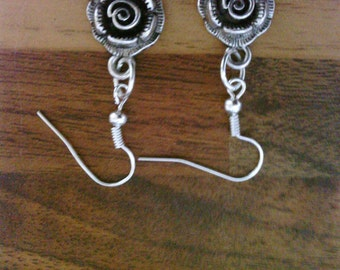 Gothic Style Rose Earrings