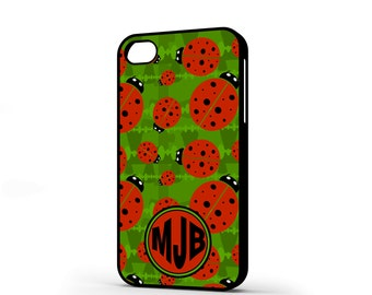 Ladybird iPhone 4 case ladybug iphone 4 case with or without monogram insect iphone 4 case ladybird pattern ladybug phone case 4s JD106