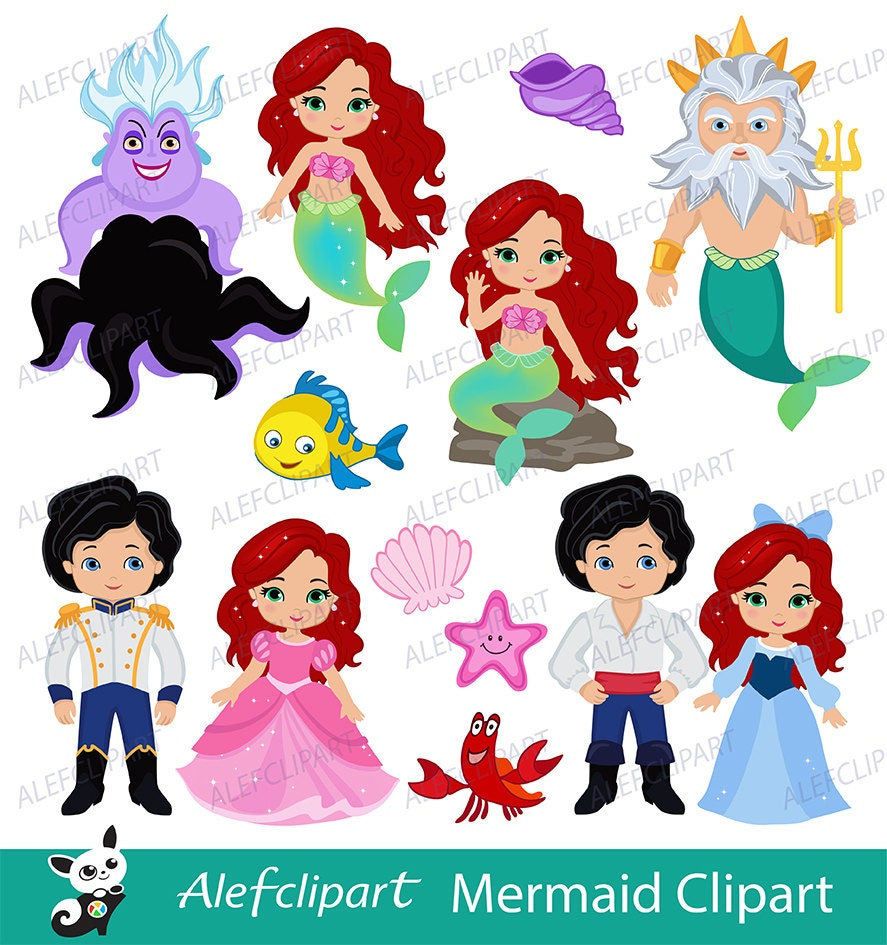 Mermaid Little Mermaid Clipart Mermaid Clipart Princess
