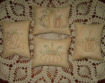 Primitive Fall Pillows~Pumpkins~Bowl Fillers~Ornies~Tucks