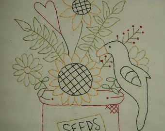 Primitive Stitchery~Summer Seeds....