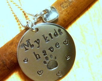Dog Lover Necklace,Cat Lover Necklace,Cat Lover Jewelry,Dog Lover Jewelry,Animal Lover Necklace,Animal Lover Gift,Hand Stamped Gift,Pendant