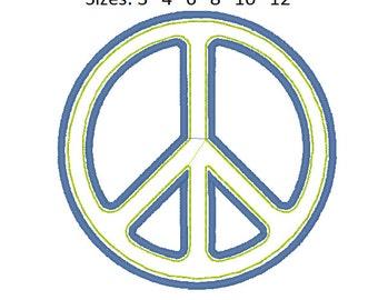 Peace sign applique designs