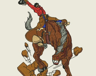 Bucking Bronco Machine Embroidery Design