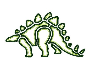 Stegosaurus Applique Design 4 Sizes