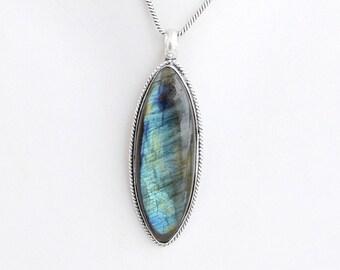 TRULY ELVISH labradorite pendant necklace silver labradorite necklace celtic jewelry, 9