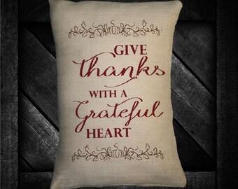 """Grateful Heart 12""""x16"""" Pillow Set"""
