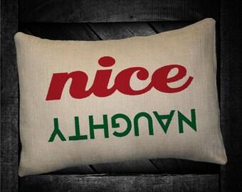 "Nice or Naughty 12""x16"" Pillow Set"