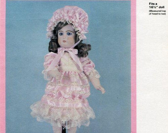 FREE usa SHIP Byron Doll Pattern 1980's BY-213 Lisette 16.5 Old Store Stock Sewing Pattern
