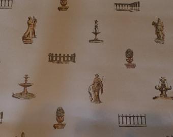 Vintage Wallpaper Greek Mythology Statues White