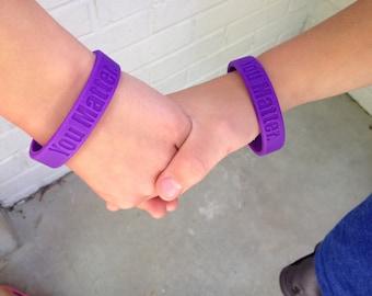 You Matter. purple rubber band bracelets