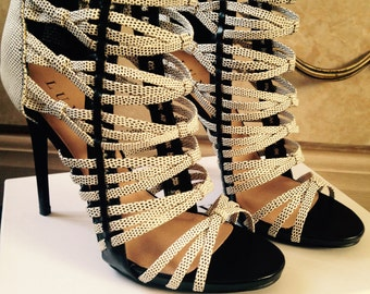 Strappy Heels B&W