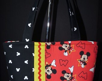 NEW Handmade Red Disney Mickey Mouse Tote Handbag Purse