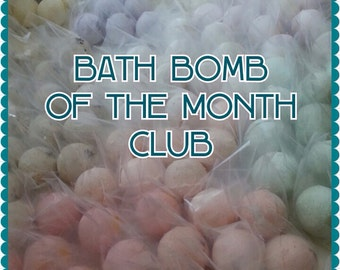 Bath Bomb of the Month Club - 6 month membership - {1} 4 oz. Bath Bomb each month