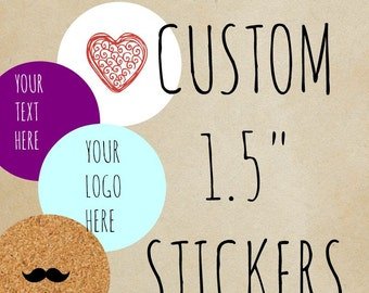 Custom Stickers, Custom Labels, Product Labels ,lip balm labels  ,Personalized Labels ,candle labels ,custom logo personalized, 1.5 circle