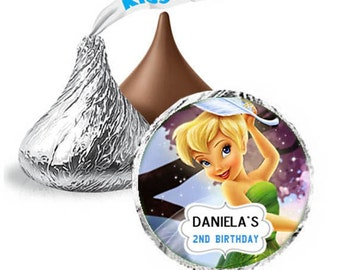 108 Disney Hershey Kisses Birthday - favor KISS TinkerBell