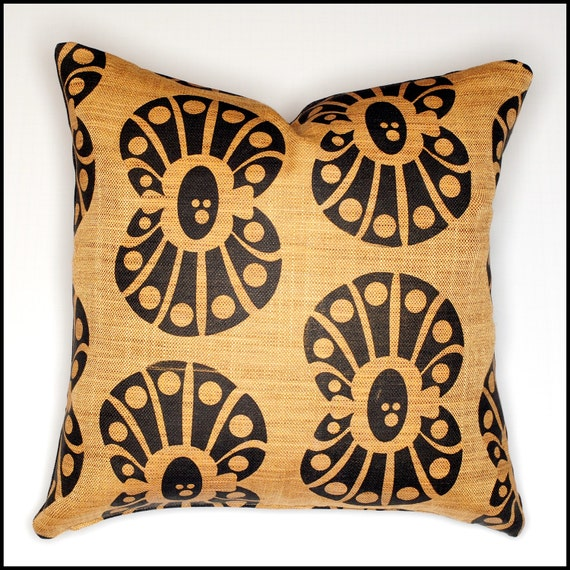 Extra Large Decorative Pillows : Extra large clam shell throw pillow cover black shell print