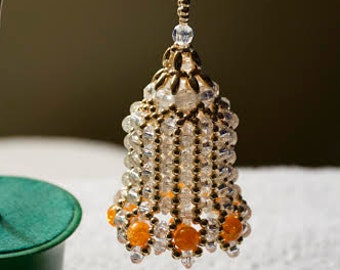 Beaded Bell Ornament/Decoration/Party Favor
