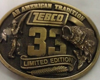 Zebco 33 Limited Edition Belt Buckle