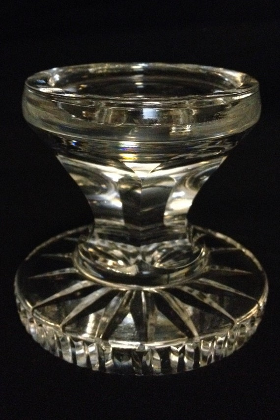 """FREE SHIPPING-Waterford-Hurricane-Fairy Lamp-Globe-Base-Replacement-Piece-3 1/4"""" Tall"""