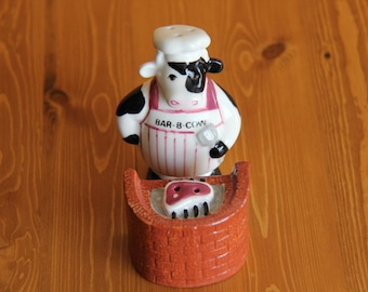 BAR-B-COW - Vintage salt and pepper shakers