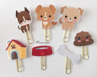 Cute Puppies Double Sided Planner Clip - Made to Order