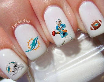 Miami Dolphins Nail Decals