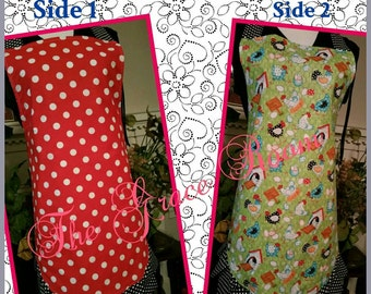 Countrytime Sassy Reversible Full Apron with Ruffles